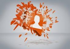 Wirtualna ikona ogólnospołeczna sieć royalty ilustracja