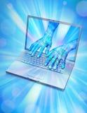 wirtualna komputerowa avatar rzeczywistość Fotografia Stock