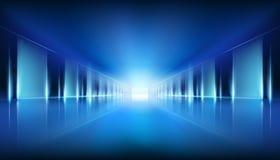 Wirtualna przestrzeń, tunel również zwrócić corel ilustracji wektora ilustracja wektor