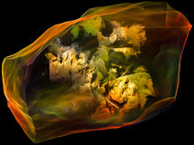 Wirtualna umysł cząsteczka Obraz Royalty Free