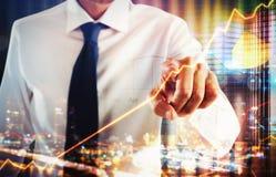 Wirtualnego ekranu system biznesowy zdjęcie stock