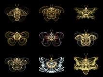 Wirtualni Fractal motyle Obraz Royalty Free