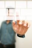 Wirtualny dotyka ekran Zdjęcie Stock