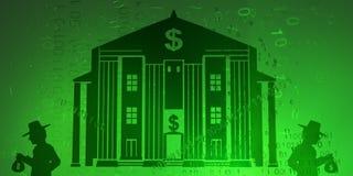 Wirtualny napad na bank royalty ilustracja