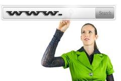 Wirtualny rewizja bar z Www. Fotografia Royalty Free