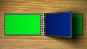 Wirtualny scrapbook - zielony parawanowy skutek royalty ilustracja