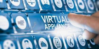Wirtualny urządzenie, oprogramowanie lub zastosowanie dystrybucja, obrazy stock