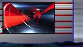 wirtualny ustalony newsroomu 2 dobro zbiory wideo