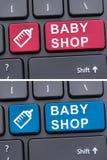 Wirtualny zakupy dla małych dzieci Obrazy Royalty Free