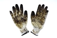 Wirty gloves Stock Images