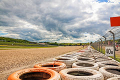 Żwiru łóżko z oponami, Nurburgring żużel, Niemcy Zdjęcia Royalty Free