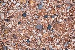 Żwiru i skały tło Zdjęcie Stock