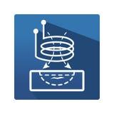 Wiru prądu piktogram Zdjęcie Stock
