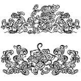 Wirujący kwiecistego wzór, projekta ornament kwiecisty mo Obrazy Stock