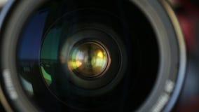 Wiruje kamera obiektyw horizontally zbliżenie zbiory