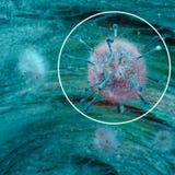 Wirus, genetyczny kod, bakterie i mikroorganizmy widzieć pod mikroskopem, Nowi wirusy świadczenia 3 d royalty ilustracja
