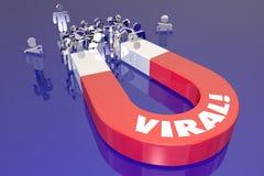 Wirusowy Marketingowy klienta magnesu rysunek Przyciąga nabywcy Obraz Stock