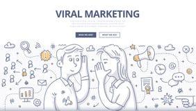Wirusowy marketingu Doodle pojęcie Obraz Stock