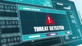 Wirusowy skanerowanie postępu Ostrzegawczej wiadomości zagrożenie Wykrywał ostrzeżenie na ekranie ilustracja wektor
