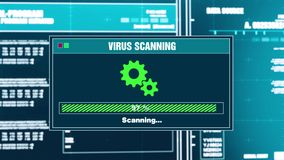 92 Wirusowy skanerowanie postępu Ostrzegawczej wiadomości zagrożenie Wykrywał ostrzeżenie na ekranie ilustracja wektor