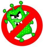Wirusy no pozwalają Obraz Royalty Free