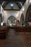 WISBOROUGH, SUSSEX/UK - 15-ОЕ ОКТЯБРЯ: Внутренний взгляд St Peter a Стоковое Изображение RF