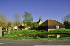 Wisborough Village Green u. Teich, E, Sussex Lizenzfreies Stockbild