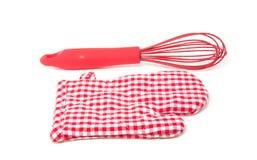 Wischen und ein Küchehandschuh stockfotos