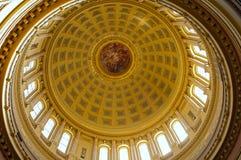 Wisconsin Capitol rotundy sufit Zdjęcia Royalty Free