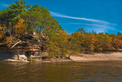 Wisconsin Dells. Autumn colours taken in Wisconsin Dells, WI Royalty Free Stock Image