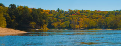 Wisconsin Dells. Autumn colours taken in Wisconsin Dells, WI stock images
