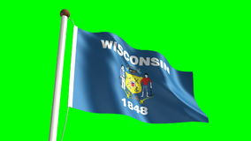 Wisconsin flag Royalty Free Stock Image