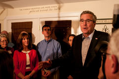 Former Florida Governor Jeb Bush speaks in Dover, New Hampshire, USA Stock Photos