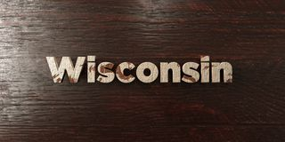 Wisconsin - grungy wooden headline on Maple  - 3D rendered royalty free stock image. This image can be used for an online website banner ad or a print postcard Stock Photos