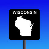 Wisconsin highway sign Royalty Free Stock Photos
