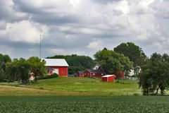 Wisconsin jordbruk och naturbakgrund royaltyfri foto