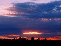 Wisconsin-Landschafts-Sonnenuntergang Stockbilder