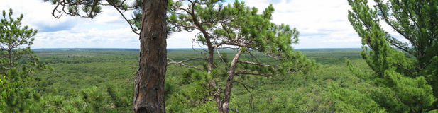 Wisconsin nature panorama. Roche A Cri State Park offers great views over central Wisconsin royalty free stock photography