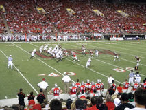 Wisconsin offense in action against UNLV Royalty Free Stock Image