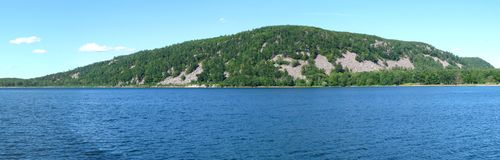 Wisconsin panorama. Panorama of Devils Lake State Park in Wisconsin royalty free stock images