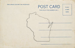 Wisconsin Postcard. A postcard with a Wisconsin map outline. Dirt and scratches at 100 royalty free stock photography