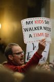 Wisconsin-Protestierender Lizenzfreie Stockfotos