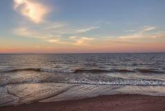 Wisconsin punkt i överman, Wisconsin är på kusten av sjö S arkivfoto