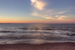 Wisconsin punkt i överman, Wisconsin är på kusten av sjö S fotografering för bildbyråer