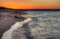 Wisconsin punkt i överman, Wisconsin är på kusten av sjö S Arkivbilder