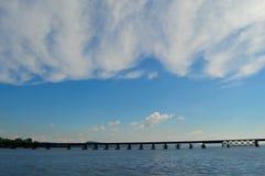 Wisconsin River Bridge stock photos