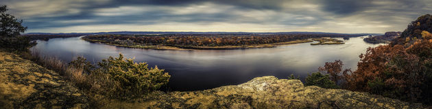 Wisconsin River. The Wisconsin River from Ferry Bluff royalty free stock photos