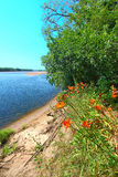 Wisconsin River Landscape Portage Royalty Free Stock Photos