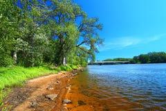 Wisconsin River landskap Portage Royaltyfri Bild