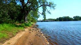 Wisconsin rzeki krajobraz Portage zbiory wideo